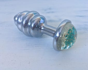 Stainless Steel Floral Anal Plug
