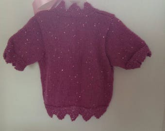 Girls pink sparkly bolero