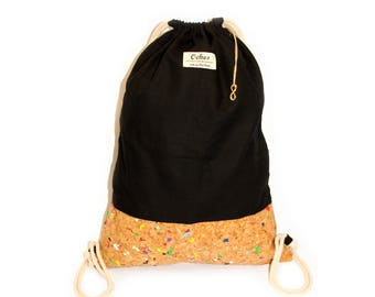 Ochos | Black Cork Sack Bag
