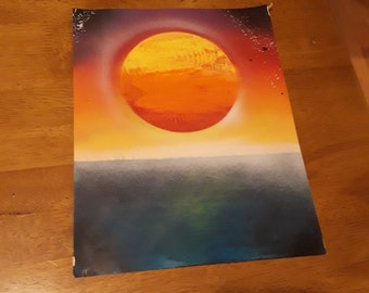 sunset spray paint art