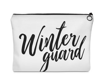 WinterGuard Makeup -Carry All Pouch - 2 Sizes / Winter Guard / Color Guard / ColorGuard