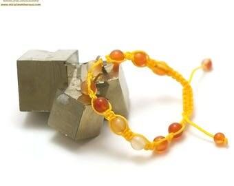 "Stone natural ""shamballa"" bracelet, Carnelian"
