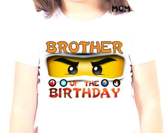 Iron On Transfer Ninjago, Ninjago Birthday Boy Shirt Iron On Transfer, Birthday Boy Iron On Transfer, Personalize Iron On Transfer