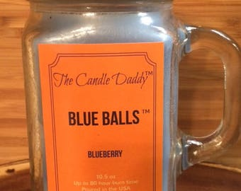 Blue Balls Blueberry Scented Candle