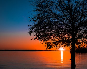 Lake Murray Red and Blue sunset