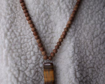 Tiger Eye Sandalwood necklace