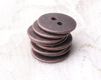 10pcs 14mm 2 holes sewing buttons metal buttons round copper buttons shirt cardigan buttons