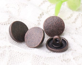 sewing buttons 12*7mm button 10pcs metal zinc alloy copper buttons shank buttons stripe buttons