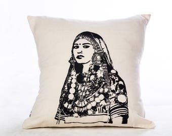 Handmade cushion cover-with Print