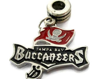 Tampa Bay Buccaneers Silver Plated Charm w/ Connector