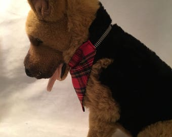 Plaid Dog Bandana - Two-Sided