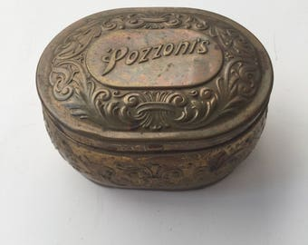 1912 Pozzoni's Powder Tin
