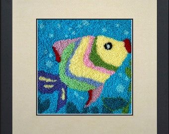 Silk painting of a fish