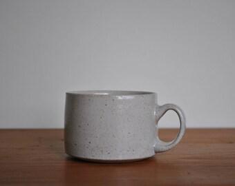 Handmade matt white espresso mug
