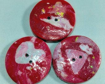Cherry Red Flash Buttons