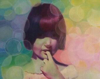 Portrait on commission, acrylic.