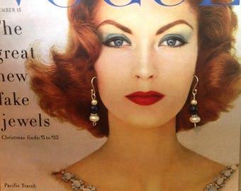 Handmade pearl and lapis earrings, sterling silver
