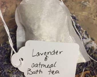 Lavender oatmeal bath tea