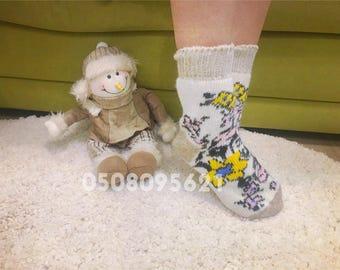 Sheep wool Woolen socks Grey socks
