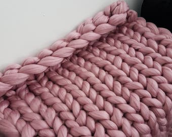 Chunky handknitted blankets Made to order in the UK