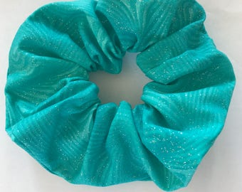 Sparkly Green Scrunchie