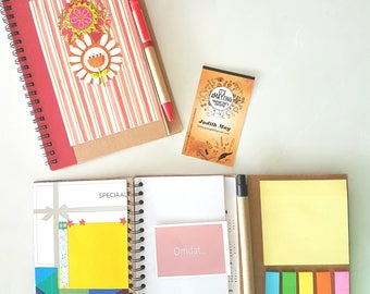 Mini notebooks and tags