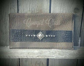 Large Handmade Leather Clutch