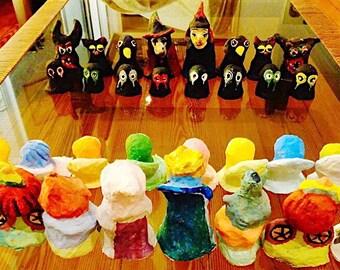 Handmade Chess figures for children