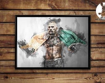 Conor McGregor poster wall art home decor print