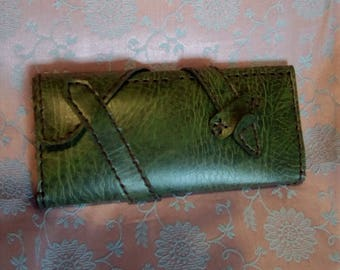 Eco leather bag/wallet in hand MADE