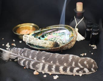 Smudging Kit - Turkey Feather