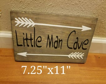 Little Man Cave - Wood Sign