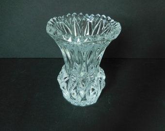 Vintage Princess House Crystal Toothpick Holder/Bud Vase