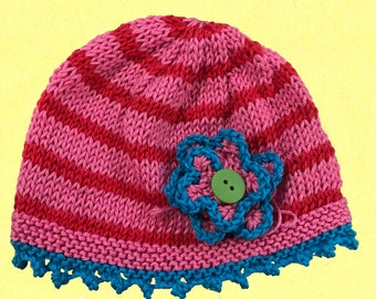 Hand Knit Girl's Hat by Yellow Diamonds