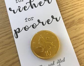Wedding favours - 'for richer, for poorer'