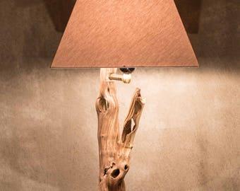 Handmade Natural Wood Lamp