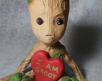 I Am Groot Wooden Groot Figurine Custom Handmade