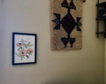Wildflowers & Bee Watercolor/Ink