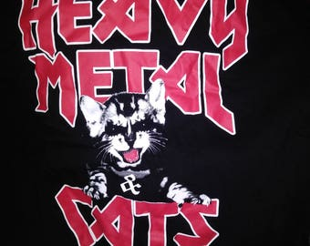 Heavy metal and cats shirt