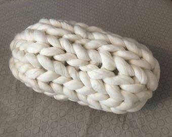 Chunky Knit Neck Pillow