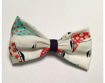 Sailboat Hairbow, Hairbow, Multi-color Sailboat Hairbow, Navy Hairbow, Bows, Bowtie, SozBows