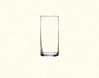 """7.25"""" Glass Cylinder Vase"""