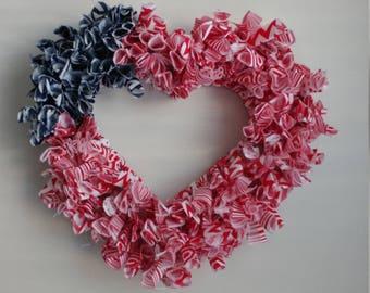 Wreath: Flag Heart