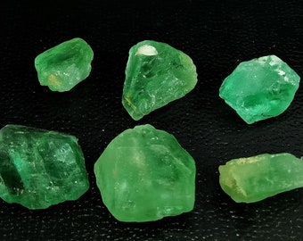 58.80 Unheated & Natural Green Fluorite Rough Stone Lot