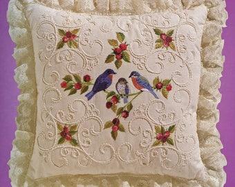 Janlynn Candlewicking Embroidery Blurbirds and Blackberries