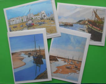 Greetings Cards of Harbours of England