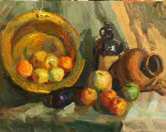 Still life Colorful painting  Vegetables
