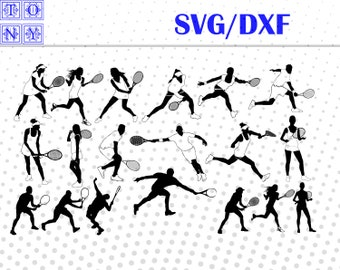 Tennis Players , dxf,svg /Tennis Players  clipart