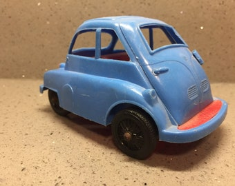 Vintage Plastic Toy BMW Isetta BubbleCar