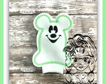 GHOST Mr Mouse Center or Ear (Add On ~ 1 Pc) Mr Ms Mouse Ears Headband ~ In the Hoop ~ Downloadable DiGiTaL Machine Emb Design by Carrie